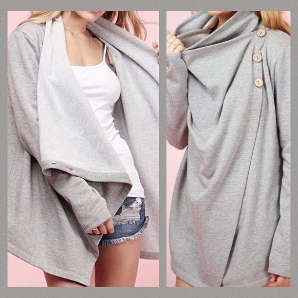 Angelique's Atelier Jackets & Blazers - Button Cardi Wrap